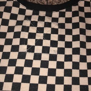 Vans Tops - Cropped Vans Checkered top